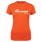 Ladies Syntrel Performance Orange Tee-The Mike Gallagher Show