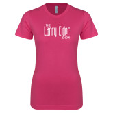 Ladies SoftStyle Junior Fitted Fuchsia Tee-The Larry Elder Show