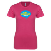 Ladies SoftStyle Junior Fitted Fuchsia Tee-The Eric Metaxas Show