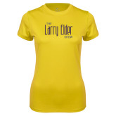 Ladies Syntrel Performance Gold Tee-The Larry Elder Show