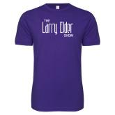 Next Level SoftStyle Purple T Shirt-The Larry Elder Show