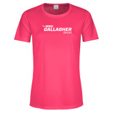 Ladies Performance Hot Pink Tee-The Mike Gallagher Show