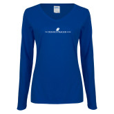 Ladies Royal Long Sleeve V Neck Tee-The Dennis Prager Show