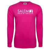 Hot Pink Long Sleeve T Shirt-Media Group