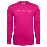 Hot Pink Long Sleeve T Shirt-The Michael Medved Show