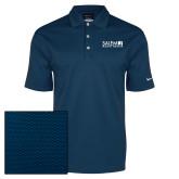 Nike Dri Fit Navy Pebble Texture Sport Shirt-Media Group