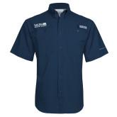 Columbia Tamiami Performance Navy Short Sleeve Shirt-Media Group