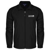 Full Zip Black Wind Jacket-Media Group