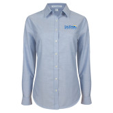 Ladies Light Blue Oxford Shirt-Media Group
