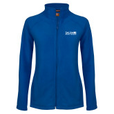Ladies Fleece Full Zip Royal Jacket-Media Group