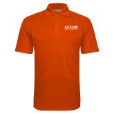 Orange Textured Saddle Shoulder Polo-Media Group