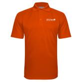Orange Textured Saddle Shoulder Polo-Salem Radio Network News