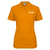 Ladies Easycare Orange Pique Polo-Media Group