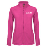 Ladies Fleece Full Zip Raspberry Jacket-Media Group