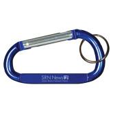 Blue Carabiner with Split Ring-Salem Radio Network News  Engraved