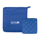 Quilted Canvas Royal Pot Holder-Media Group