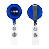 Blue Retractable Badge Holder-Media Group