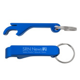 Aluminum Blue Bottle Opener-Salem Radio Network News  Engraved