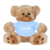 Plush Big Paw 8 1/2 inch Brown Bear w/Light Blue Shirt-Media Group