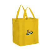 Non Woven Gold Grocery Tote-Lions w/Lion