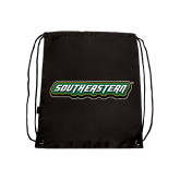 Black Drawstring Backpack-Southeastern