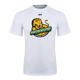 Under Armour White Tech Tee-Official Logo