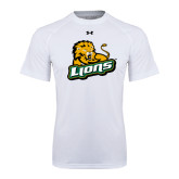 Under Armour White Tech Tee-Lions w/Lion
