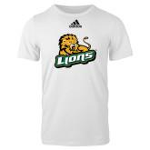 Adidas White Logo T Shirt-Lions w/Lion