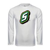 Performance White Longsleeve Shirt-S