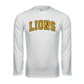Performance White Longsleeve Shirt-Arched Lions