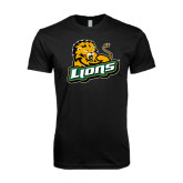 Next Level SoftStyle Black T Shirt-Lions w/Lion