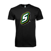 Next Level SoftStyle Black T Shirt-S