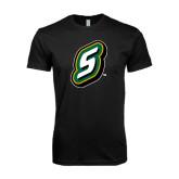 Next Level SoftStyle Black T Shirt-S