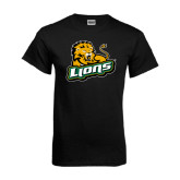 Black T Shirt-Lions w/Lion