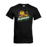 Black T Shirt-Lions w/Lion