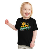 Toddler Black T Shirt-Lions w/Lion