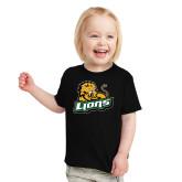 Toddler Black T Shirt-Lions w/Lion