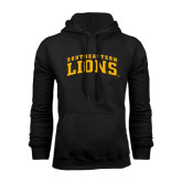 Black Fleece Hoodie-Arched Southeastern Lions