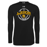 Under Armour Black Long Sleeve Tech Tee-Lions Basketball w/ Ball