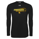 Under Armour Black Long Sleeve Tech Tee-Southeastern Baseball w/ Ball