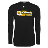 Under Armour Black Long Sleeve Tech Tee-Lions Softball Script w/ Ball