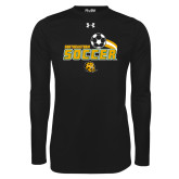 Under Armour Black Long Sleeve Tech Tee-Southeastern Soccer Swoosh w/ Ball
