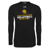 Under Armour Black Long Sleeve Tech Tee-Volleyball Can You Dig It