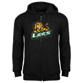 Black Fleece Full Zip Hoodie-Lions w/Lion