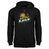 Black Fleece Full Zip Hoodie-Lions w/Lion
