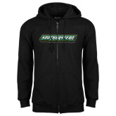 Black Fleece Full Zip Hoodie-Southeastern