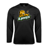 Syntrel Performance Black Longsleeve Shirt-Lions w/Lion