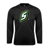 Performance Black Longsleeve Shirt-S