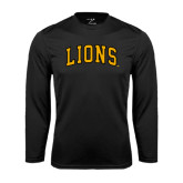 Performance Black Longsleeve Shirt-Arched Lions