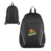 Atlas Black Computer Backpack-Lions w/Lion